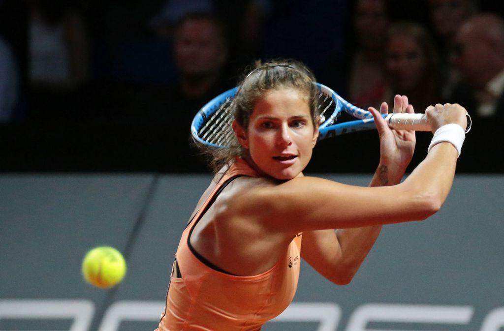 Julia Görges hat das Tie-Break-Turnier im Vorfeld des Porsche Tennis Grand Prix gewonnen. Foto: Pressefoto Baumann