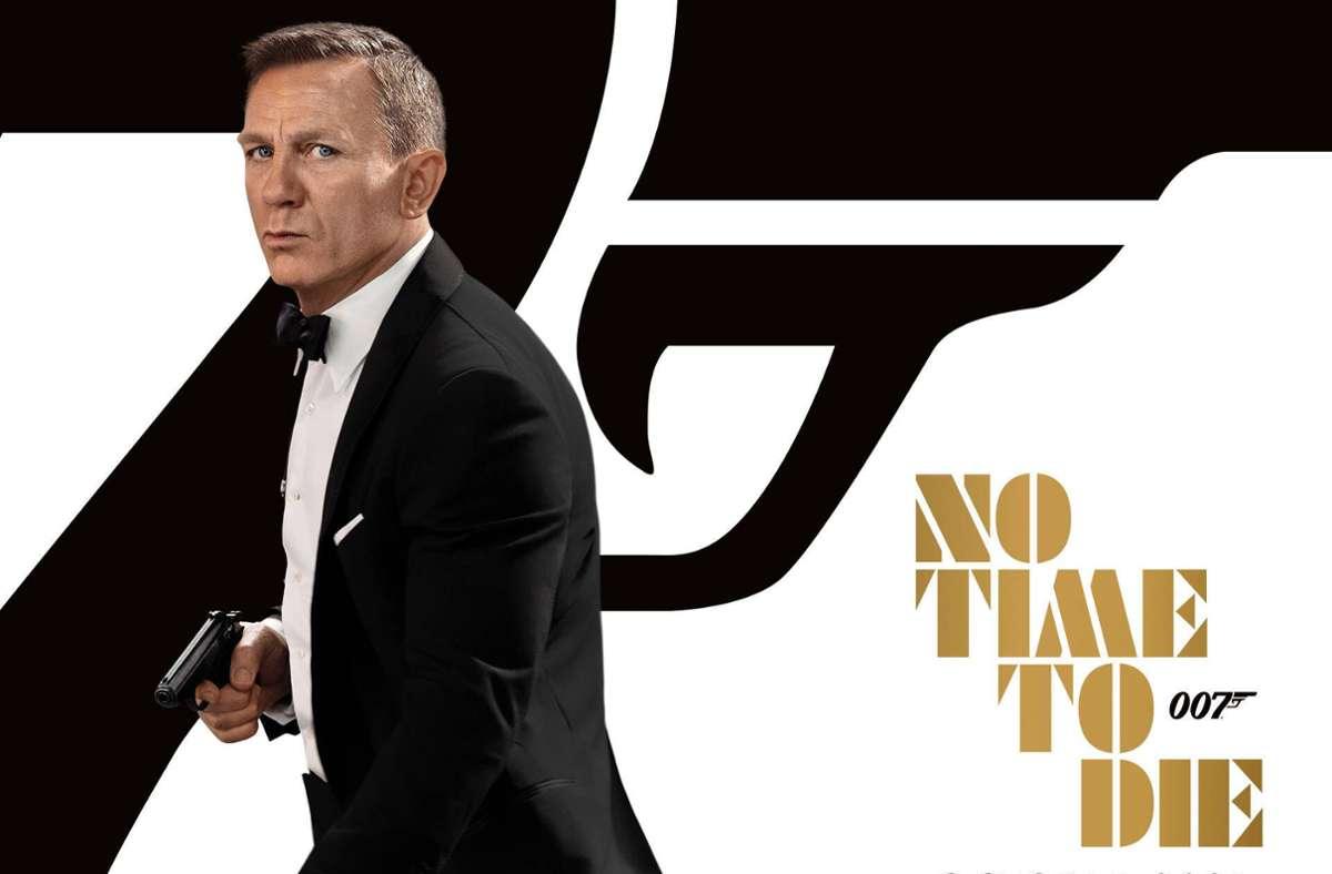 """Das Filmplakat des lange erwarteten Bond-Film """"No Time to die – keine Zeit zu sterben"""" Foto: imago images/ZUMA Press"""