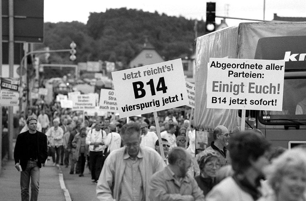 Die Ausbaugeschichte der B14 ist für viele Bürger eine leidvoll lange. Foto: