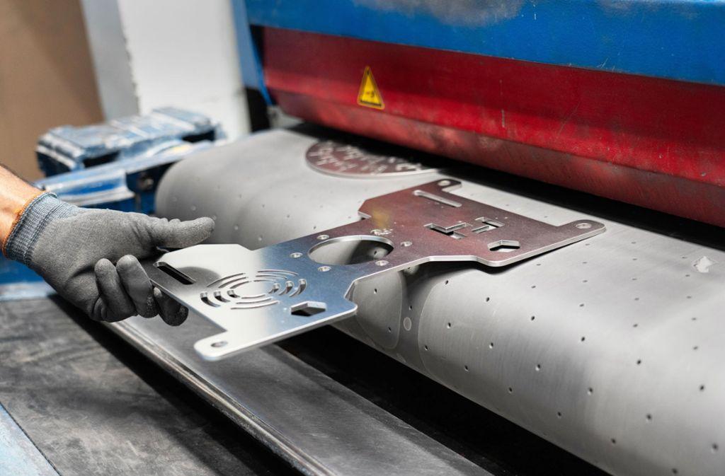 Laserhub aus Stuttgart ist eine  digitale Plattform für individuell bestellte Blechteile. Foto: Fotohub