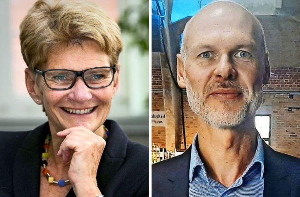 Zwei Kandidaten, ein Ziel: Angelika Matt-Heidecker und Pascal Bader. Foto: Horst Rudel/privat