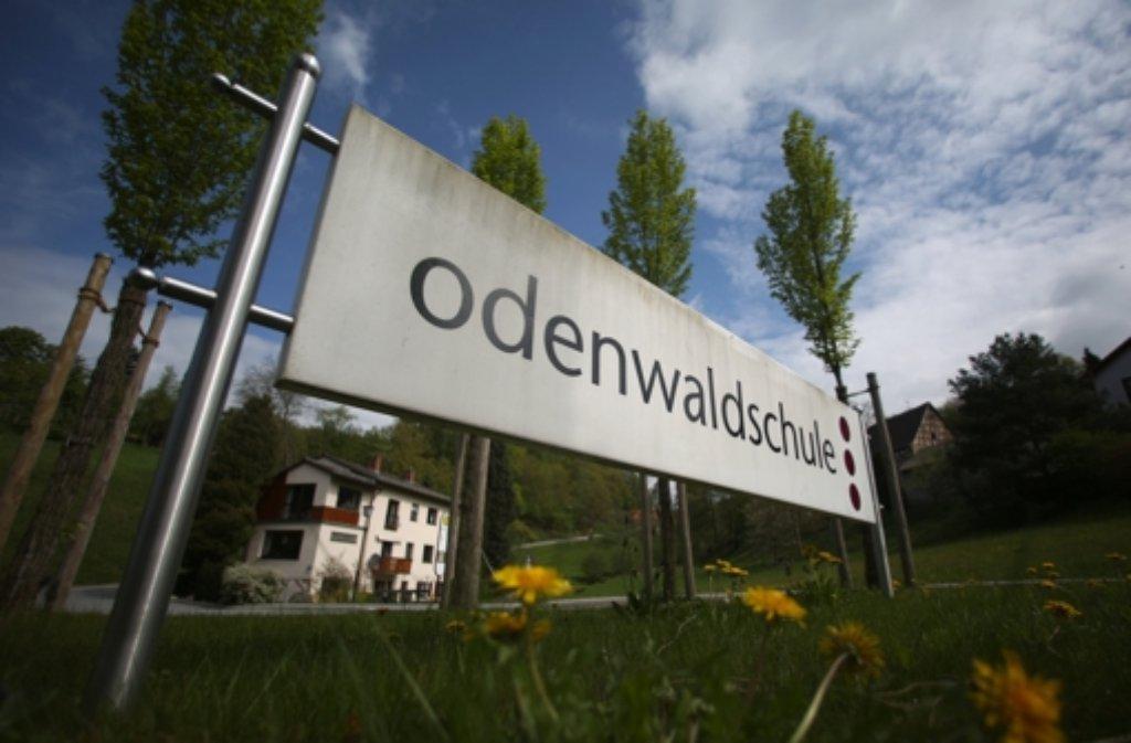 Zufahrt des Internats in Ober-Hambach bei Heppenheim.  Foto: dpa