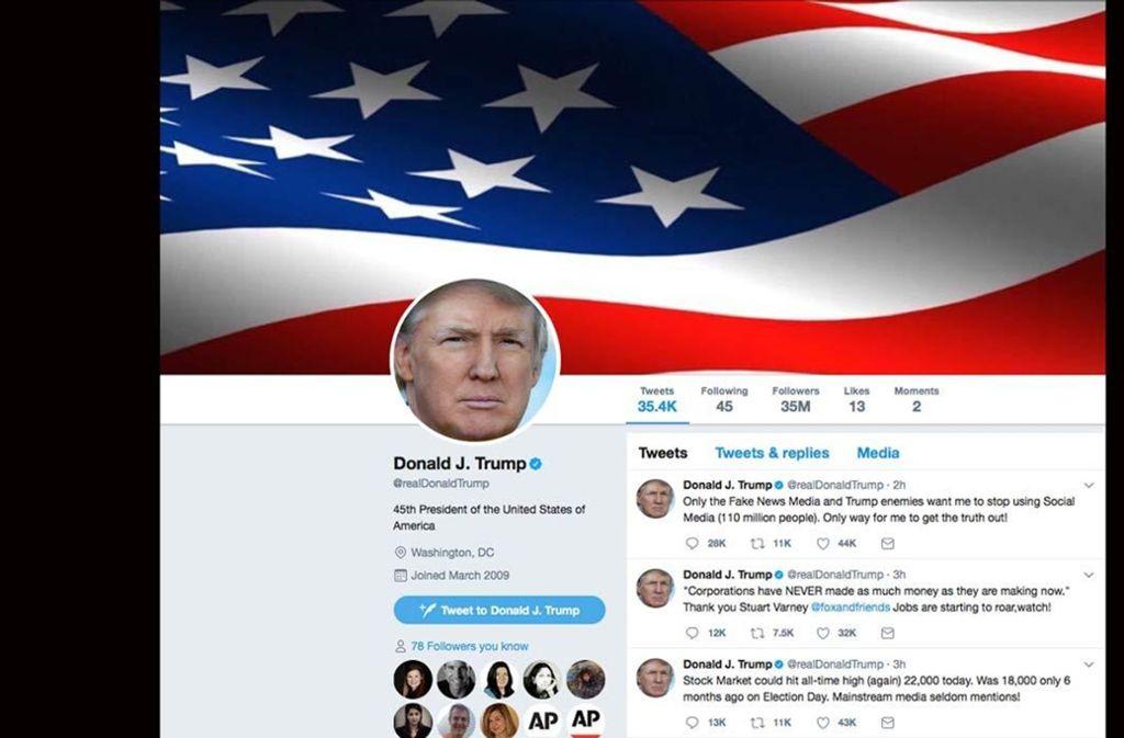 Politische Entwicklungen beeinflussen zunehmend die Märkte. Finanzanalysten müssen heute  US-Präsident Donald Trump auf Twitter folgen, um zu verstehen, warum die Börsen reagieren, sagt LBBW-Autoanalyst Gerhard Wolf. Foto: AP