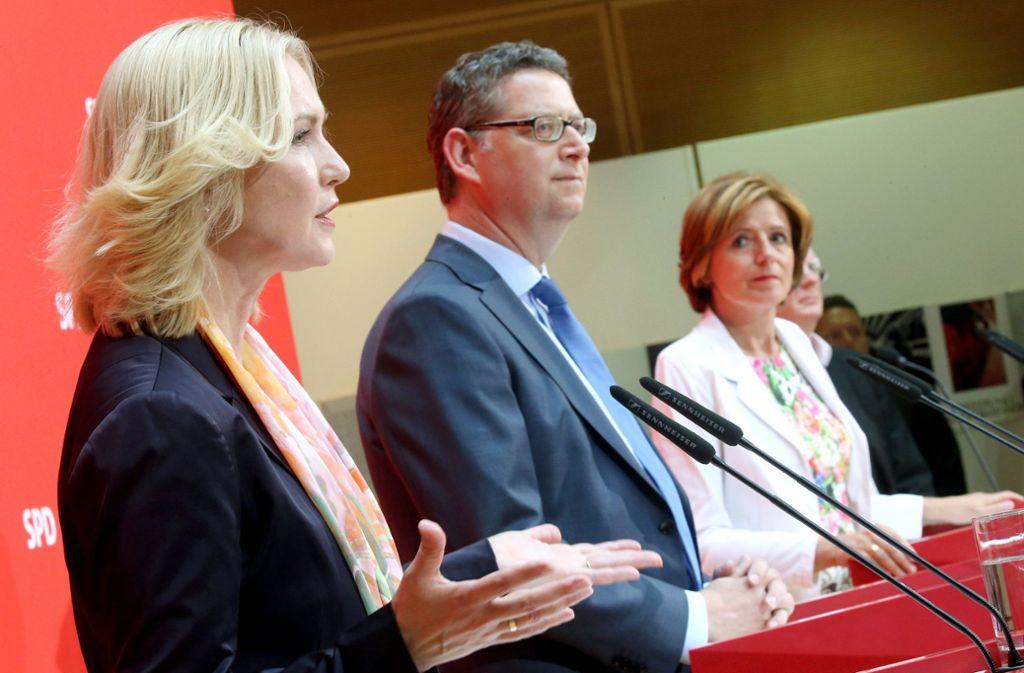 Aus drei SPD-Chefs könnten künftig zwei werden: Der SPD-Vorstand befürwortet ausdrücklich eine Doppelsitze. Foto: dpa