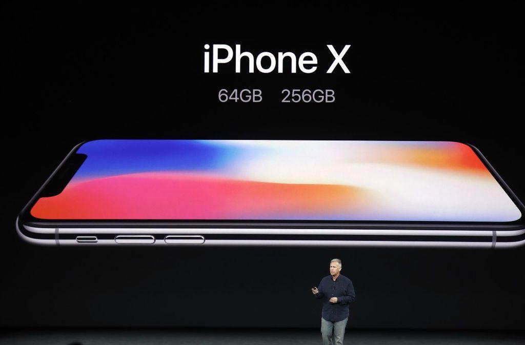 Apples neues Flaggschiff, das iPhone X. Foto: AP