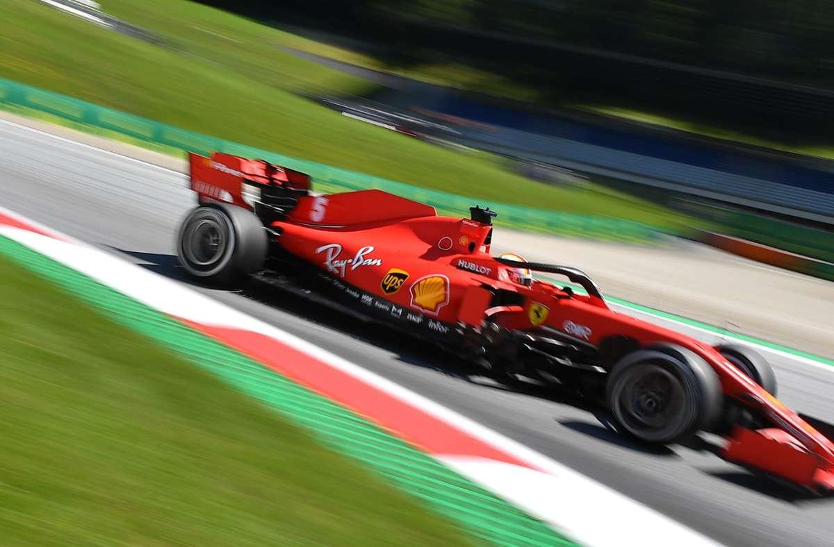 Sebastian Vettel ist in Österreich früh ausgeschieden. (Archivbild) Foto: AFP/JOE KLAMAR
