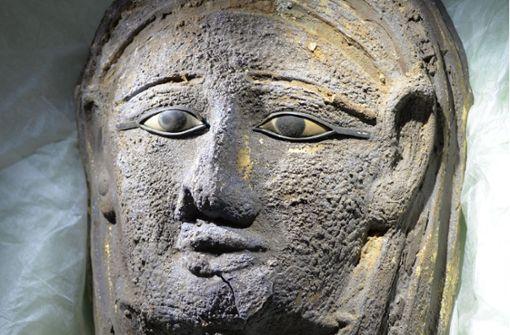 Sensationsfund: Vergoldete Mumienmaske entdeckt