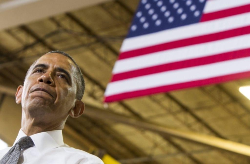 US-Präsident Barack Obama steht im Kreuzfeuer der Kritik. Foto: SIPA USA POOL