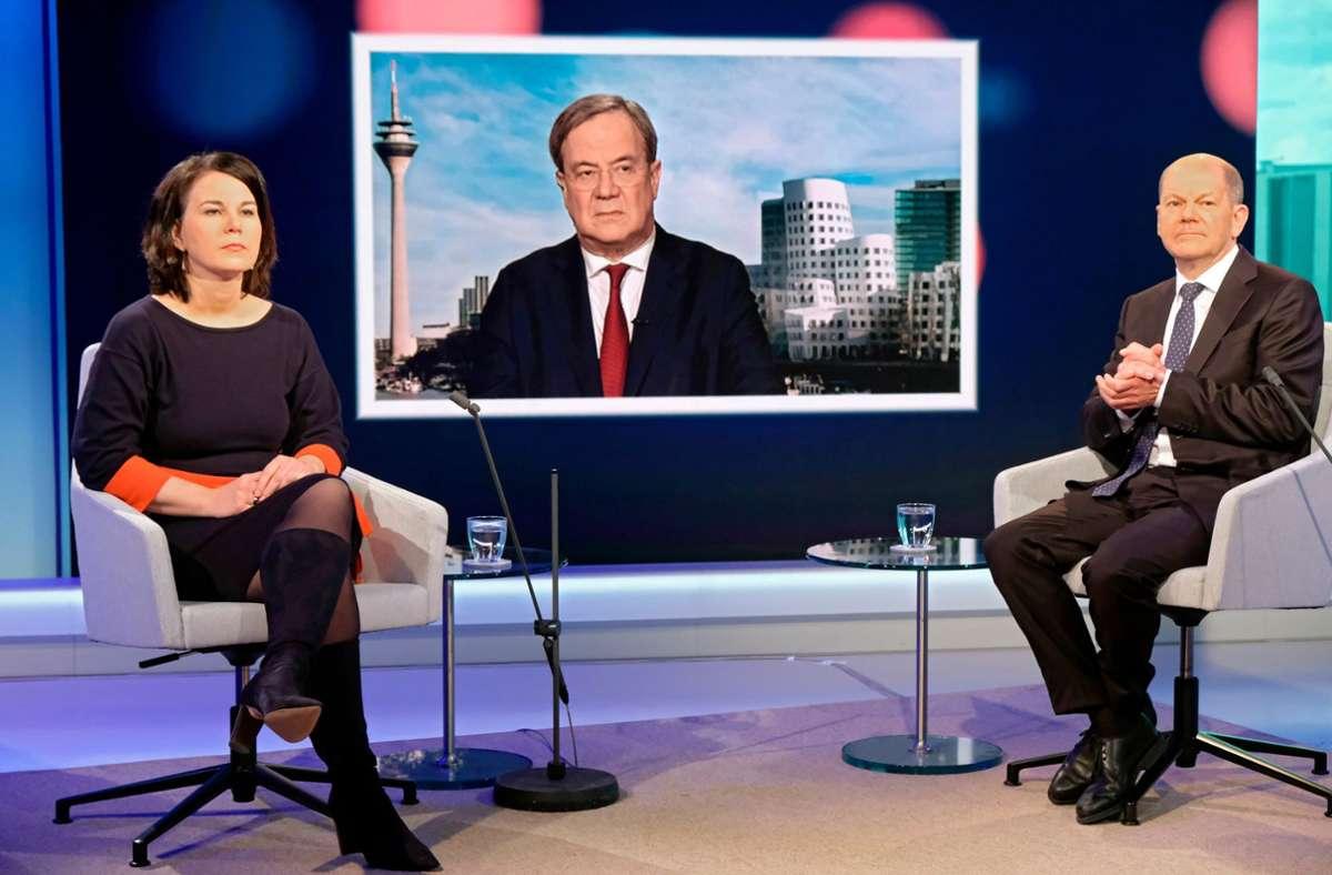 Die Mehrheit der Deutschen hält keinen der drei Kanzlerkandidaten für geeignet. Foto: dpa/Oliver Ziebe
