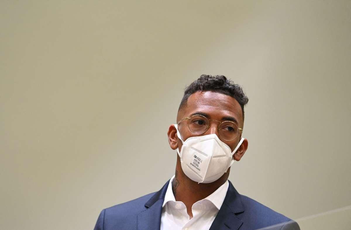 Jérôme Boateng steht in München vor Gericht. Foto: AFP/CHRISTOF STACHE