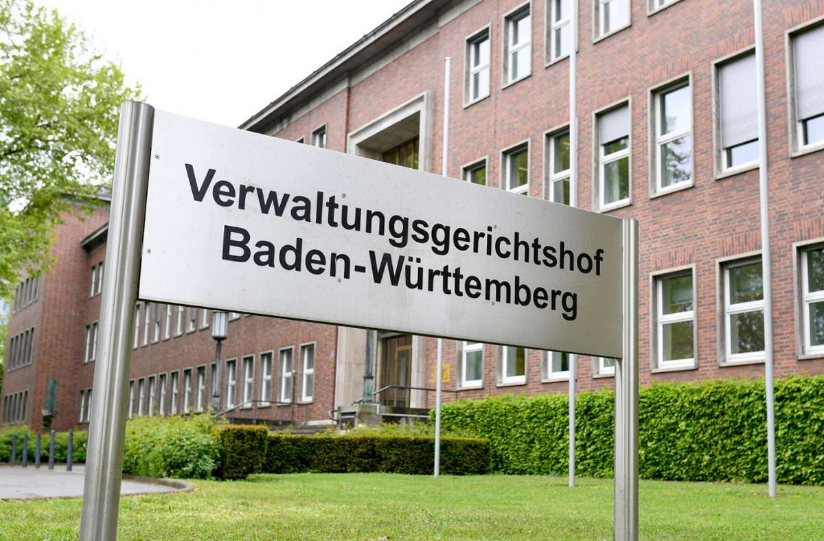 Baden-Württembergs Verwaltungsgerichtshof hat seinen Sitz in Mannheim. (Archivbild) Foto: dpa/Uwe Anspach