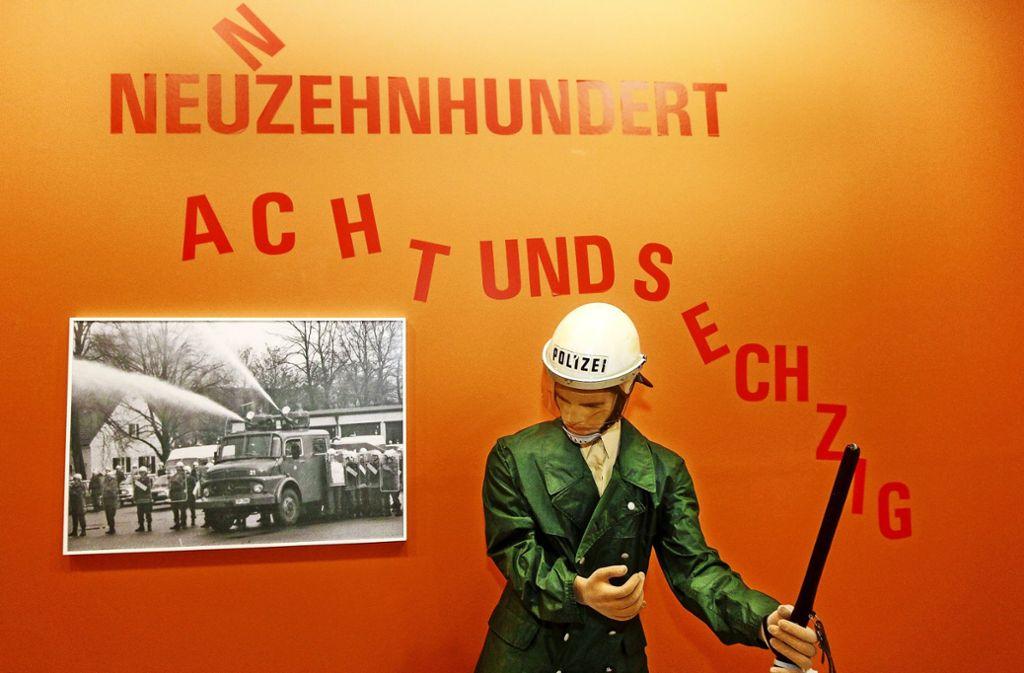 Im Bauernkriegsmuseum ist nicht nur die Schlacht von 1525 Thema. Zuletzt ging es in einer Ausstellung um die Studentenrevolte von 1968. Foto: factum/