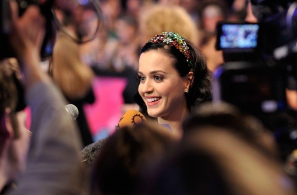 Justin Bieber hatte keine Zeit, dafür kam Katy Perry, um sich in Amsterdam den MTV-Award persönlich abzuholen. Foto: Getty Images Europe