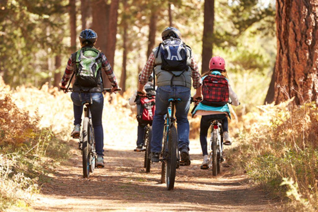 Ein Ausflug mit dem Fahrrad durch raschelndes Laub, das hat schon was!  Foto: Monkey Business Images