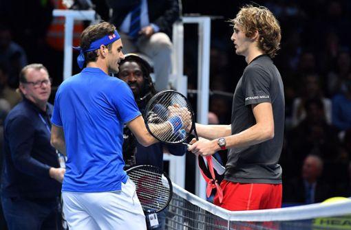 Alexander Zverev siegt gegen Roger Federer