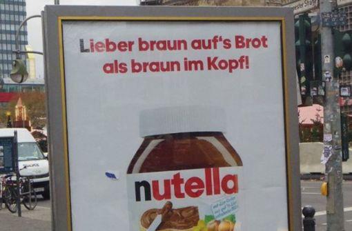 Jetzt auch mit Nutella gegen die AfD