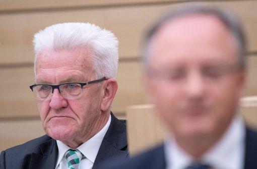 Opposition ist sauer auf  Kretschmann