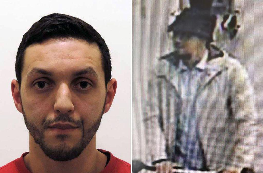 """Mohamed Abrini soll den Ermittlern zufolge der gesuchte """"Mann mit Hut"""" auf dem Brüssler Flughafen sein. Ein Überwachungsvideo zeigt ihn zwei Tage vor den Pariser Attacken zusammen mit dem einzigen Überlebenden der Anschlagskommandos, Salah Abdeslam. Foto: AFP"""