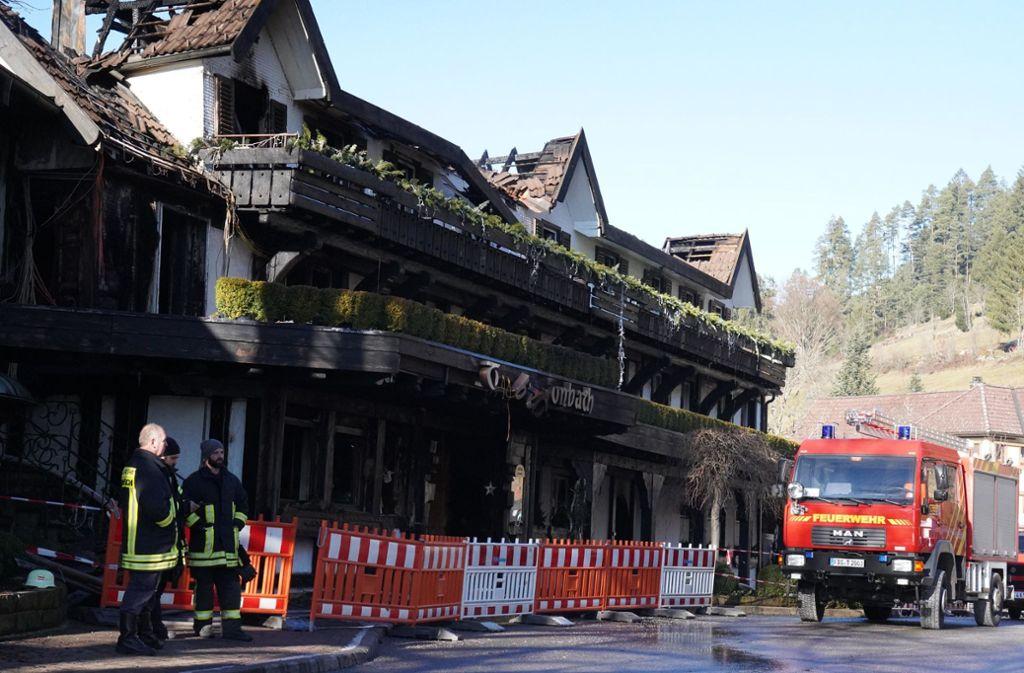 Das Restaurant Schwarzwaldstube im Hotel Traube Tonbach ist ausgebrannt. Foto: Andreas Rosar Fotoagentur-Stuttg