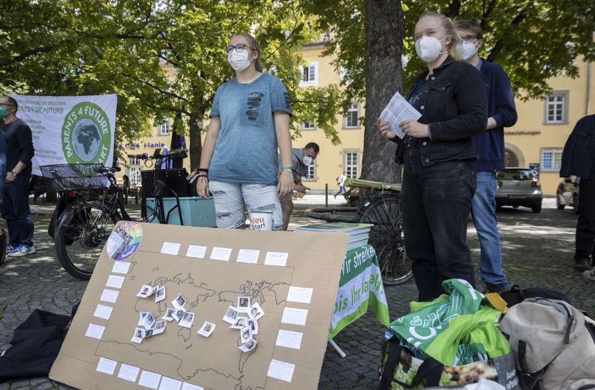 Schlechte Noten gab es bei der jüngsten Fridays-for-Future -Demo in Stuttgart für OB Nopper. Foto: Lichtgut/Julian Rettig
