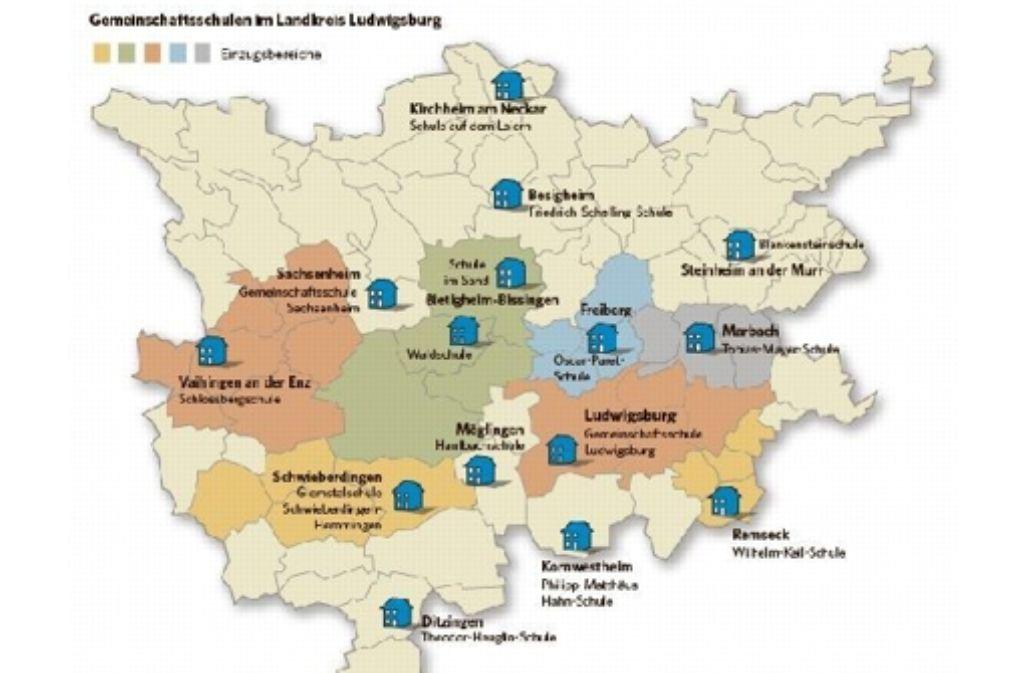 Für die Verteilung auf die Schulen ist der Wohnort der Schüler entscheidend. Foto: zap