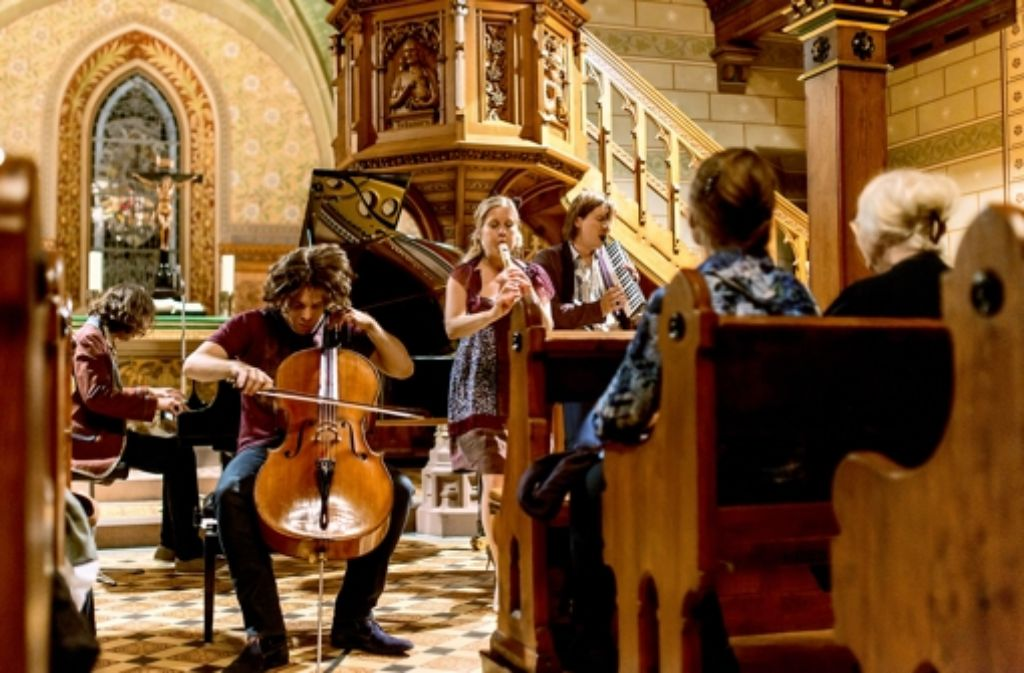 Das Crossover-Quintett Spark in der Uhlbacher Andreaskirche Foto: Holger Schneider