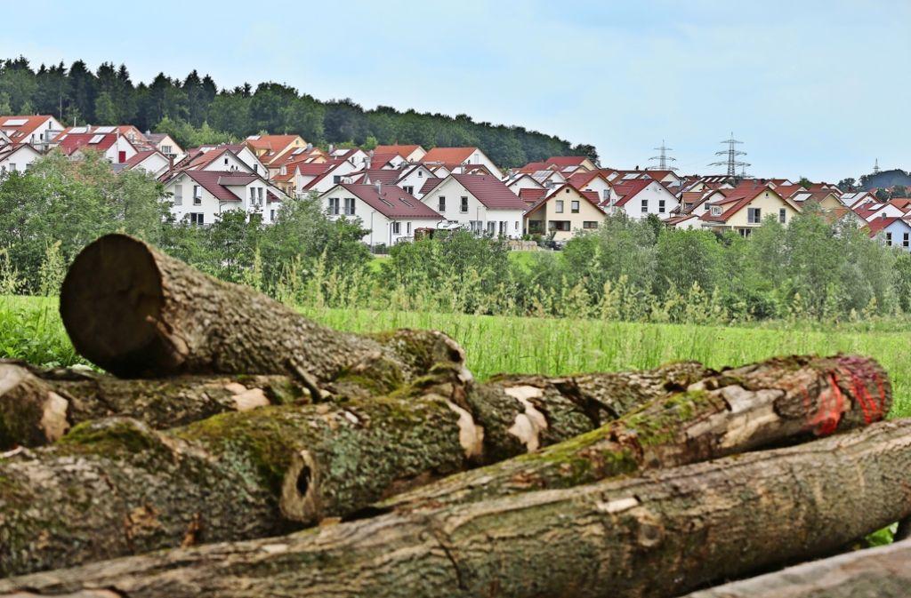 Im Gegensatz zu Ebersbach verfügt die Nachbarstadt Uhingen noch über stadtnahe Baulandreserven im Weilenberger Hof. Foto: Horst Rudel