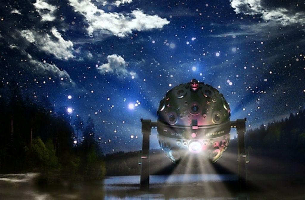 Der Zeiss-Planetariumsprojektor kann mehr als 9000 Sterne originalgetreu an die Foto: Archiv