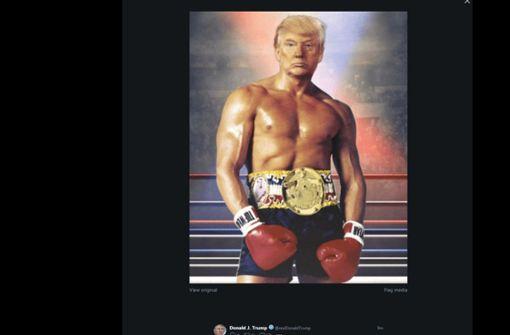 """US-Präsident zeigt sich als Muskelpaket """"Rocky"""""""