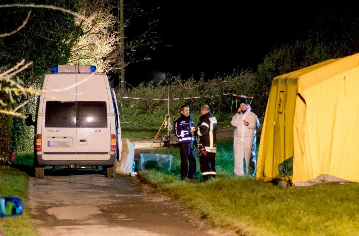 Ein Spaziergänger entdeckte den Leichnam der jungen Mutter am 17. November 2018 bei Asperg. Foto: 7aktuell/Franziska Hessen