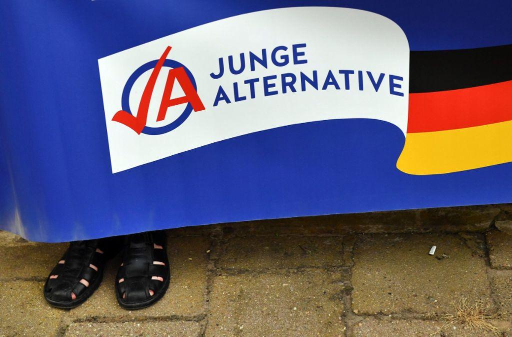 Demonstration der AfD-Parteijugend in Thüringen. Foto: dpa-Zentralbild