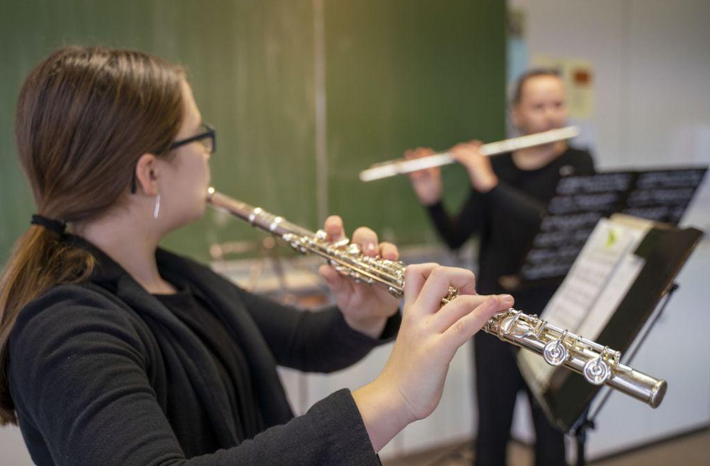 Die Ditzinger Musikschule richtet traditionell den Wettbewerb Jugend musiziert aus. Die jungen Teilnehmer nehmen in der Regel Musikunterricht. Foto: factum/Andreas Weise