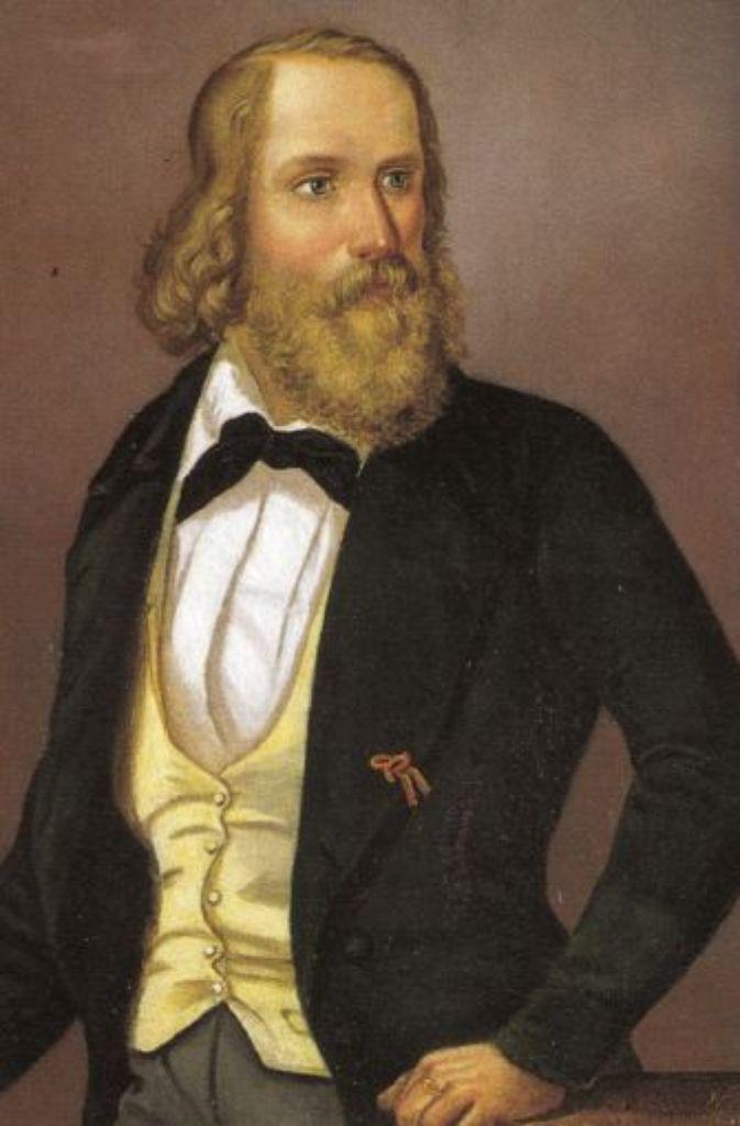 Das Ölgemälde des Malers Bernhard Neher aus dem Jahr 1845 zeigt den Revolutionär Friedrich Hecker. Foto: dpa