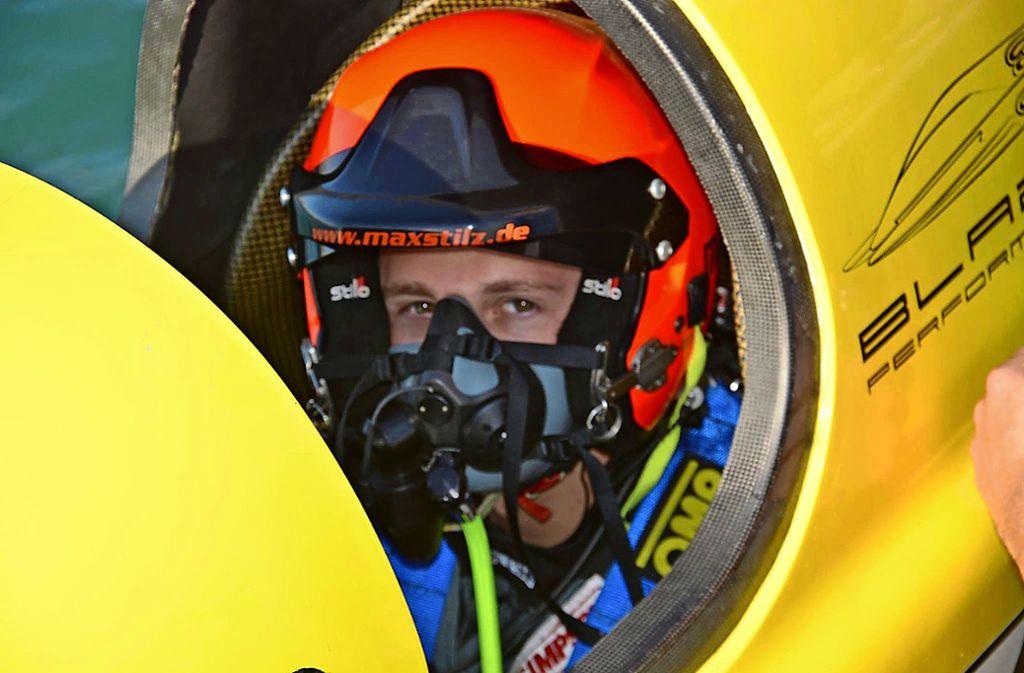 Weltmeister im Wartestand: Maximilian Stilz weiß im Moment nicht, wann er wieder in ein  Motorboot  klettern kann. Foto: Privat