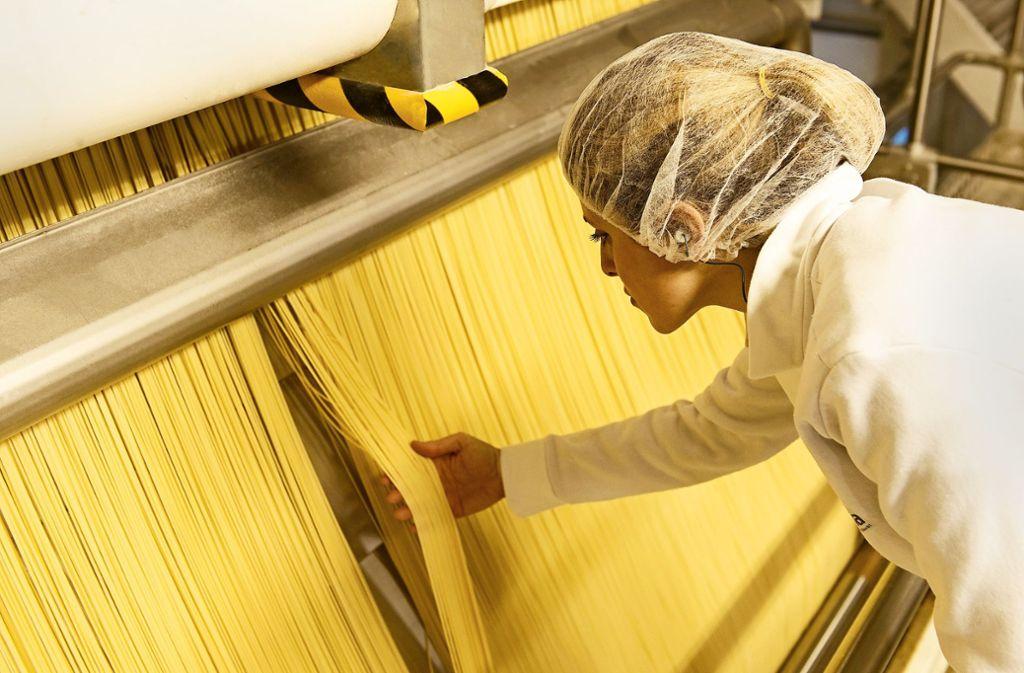 Barilla-Produktion im italienischen Foggia: Barilla ist der weltweit größte Produzent von Teigwaren. Foto: Getty Images/Fornaciari