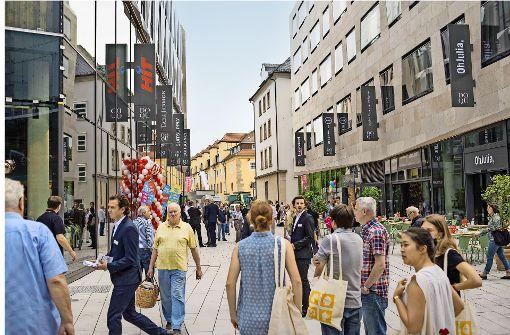 Dorotheen-Quartier    eröffnet mit Baulärm      statt  Tamtam