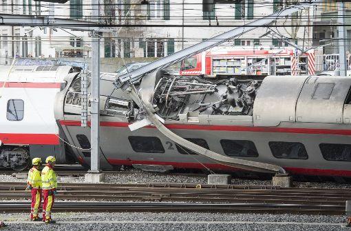 Zugunglück in der Schweiz fordert drei Verletzte