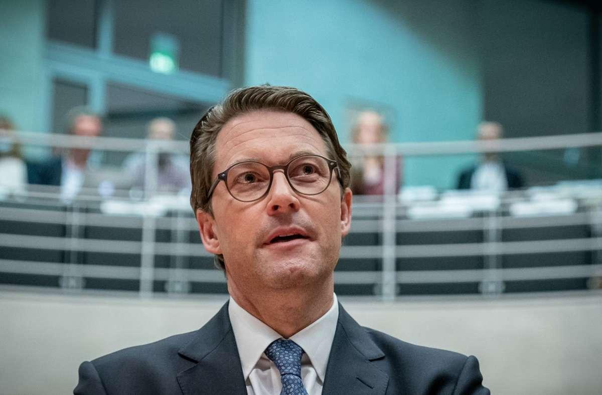 Bundesverkehrsminister Andreas Scheuer äußerte sich in der Nacht zu Freitag im Untersuchungsausschuss des Bundestags. Foto: dpa/Michael Kappeler