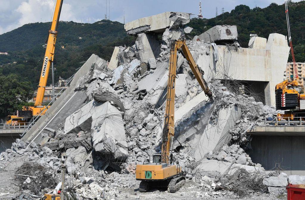 Viele Menschen hat der Brückeneinsturz in Genua aus dem Leben gerissen. Foto: ANSA