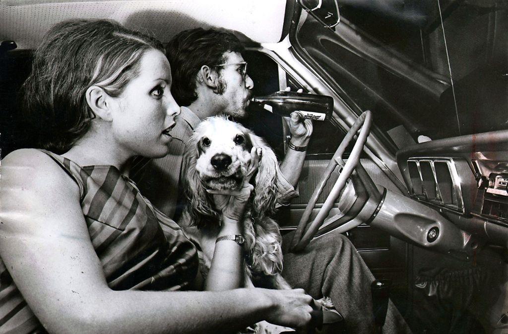 """Spannung im Auto mit Hund und Bier: Zur Premiere 1969 wurde """"Bullit"""" mit Steve McQueen gezeigt Foto:"""