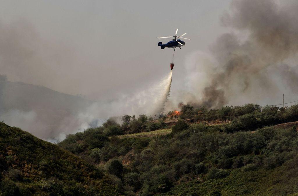 Der Waldbrand auf Gran Canaria befindet sich in der Stabilisierungsphase. Foto: Arturo Jimenez/AP/dpa