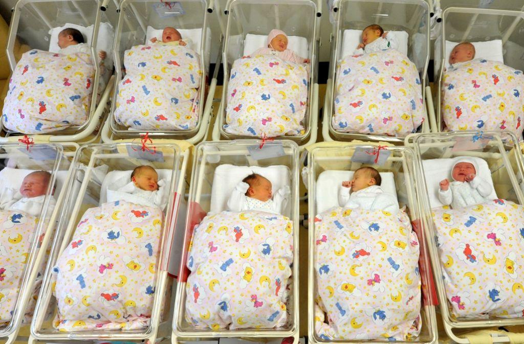 Ein kleiner Babyboom in Deutschland – es wurden so viele Babys wie seit 15 Jahren nicht mehr geboren. Foto: dpa-Zentralbild