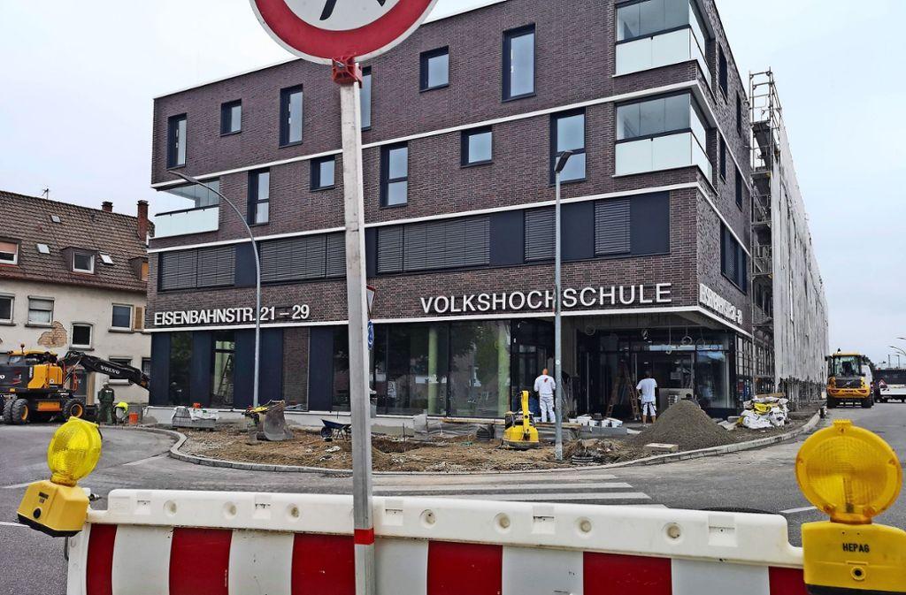 Die Bauarbeiten am Gebäude in der Eisenbahnstraße sind in den letzten Zügen. Foto: Patricia Sigerist