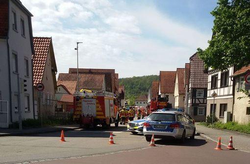 Gasleitung auf Baustelle beschädigt