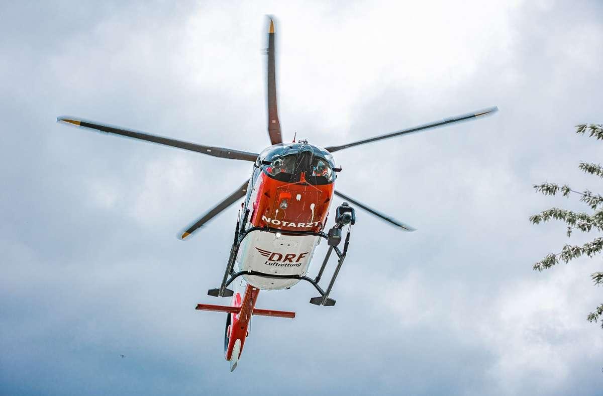 Ein Rettungshubschrauber brachte die 70-Jährige zur Behandlung in eine Klinik. (Symbolfoto) Foto: KS-Images.de / Karsten Schmalz/Karsten Schmalz
