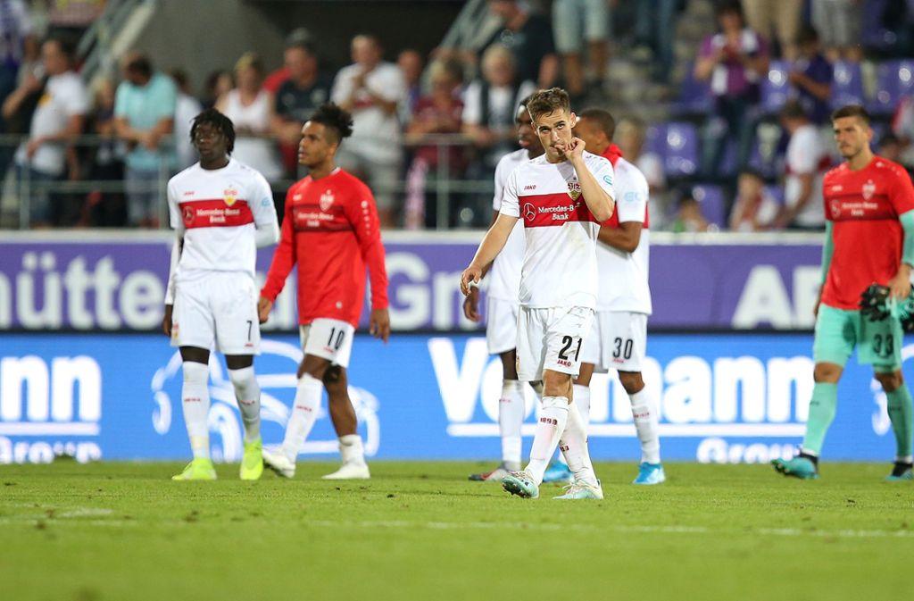 Der VfB Stuttgart spielte beim FC Erzgebirge Aue nur 0:0. Foto: Pressefoto Baumann