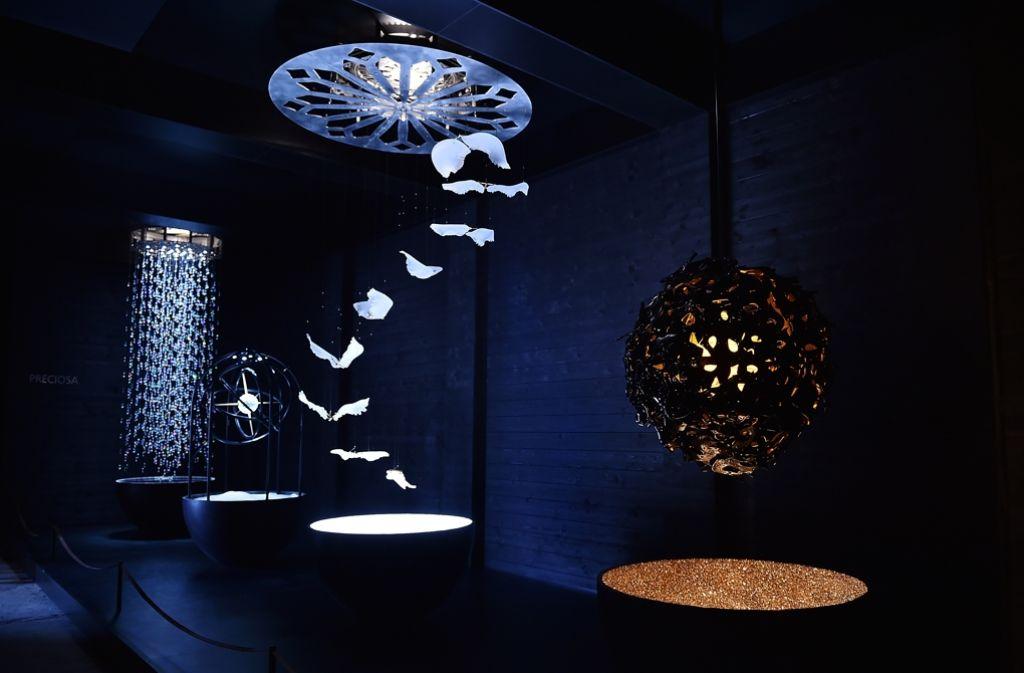 Von Montag an werden in Mailand beim 55. Salone del Mobile wieder die neusten Trends in Sachen Design präsentiert. In unserer Galerie zeigen wir die besten Bilder der Designmesse – klicken Sie sich durch. Foto: Getty Images Europe