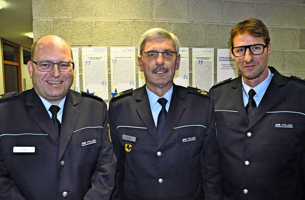 Stefan Ritz,  Franz Lutz und Peter Dieminger (v.l.) haben  im Bezirksbeirat über die Lage der Polizei gesprochen. Foto: Georg Linsenmann