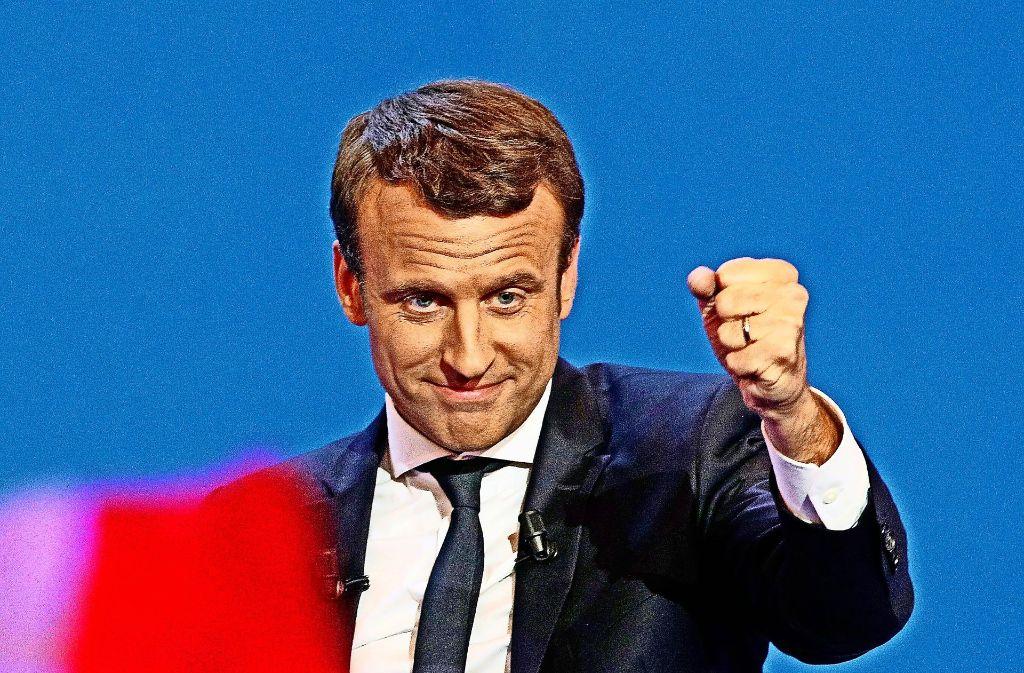 Die Meinungsforscher prophezeien Emmanuel Macron einen klaren Sieg. Foto: AP