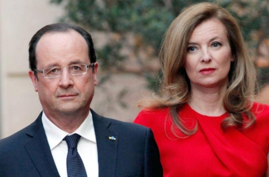 Die Journalistin Valérie Trierweiler lässt in ihrem neuen Buch kein gutes Haar an ihrem Expartner, dem franzöischen Präsidenten François Hollande. Foto: dpa